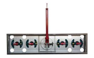 Vakuum-Hebegerät linear dreh- + kippbar in Alu-Stahlkonstruktion