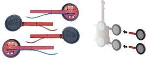 4 zusätzliche Einsteckarme für Vakuum-Hebegeräte mit 4, 6 und 8 Sauger