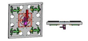 Vakuum-Hebegerät dreh- + kippbar in Alu-Stahlkonstruktion