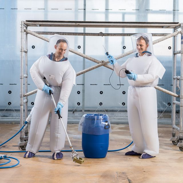 Ventilated protective suits