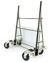 Chariot pour transporter du verre jusqu'à 600kg avec roues gonflables