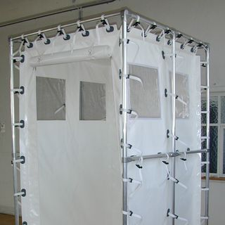 Mobile shower and changing cabins