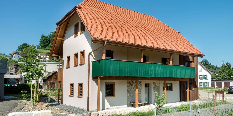 Umbau Haus mit Laube